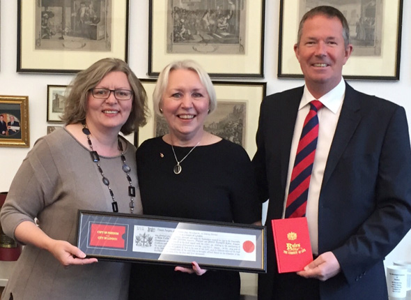 Denise awarded Freedom of the City of London
