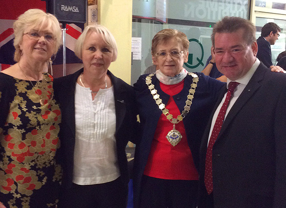 Deputy Mayor of Havering with Chairman Paul Wood & Denise