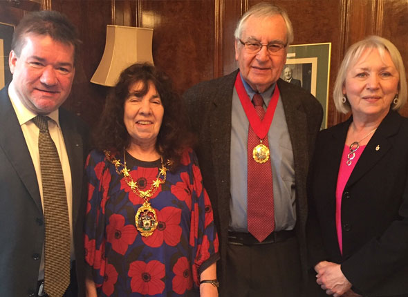 With Mayor of Redbridge and her Consort