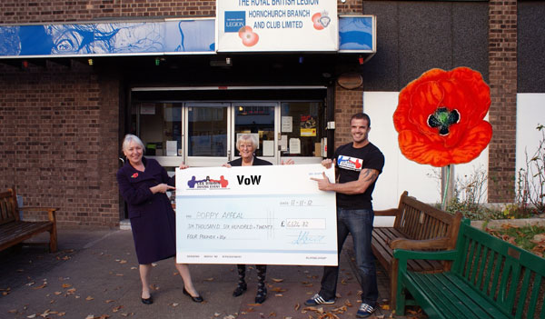 VoW raise funds for the Poppy appeal